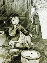 A child in Morocco, 1950's, Day Nursery (from the OSE photo collection)