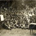 "Military chaplain Dr. Wilde with German ""Armee-Ober-Kommando IV"" in Flandern, Germany, 1918"